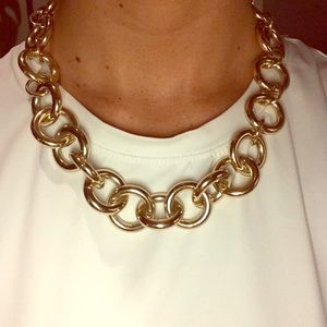 J. Crew Gold Statement Necklace - With Tags